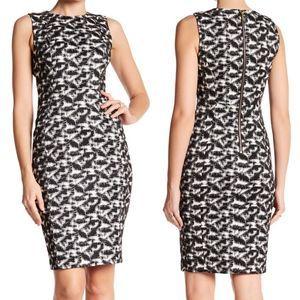 NWT Calvin Klein Jacquard Print Sheath Dress